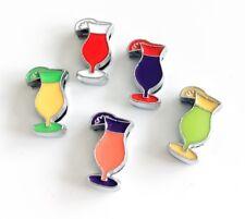 10PCs 8mm Enamel Drinking Cup Slide Charms Fit 8mm Collar belts Strip Bracelets