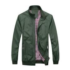 Mens Bomber Harrington Jacket Classic 1970s Coat Outerwear UK SIZES S M L XL XXL