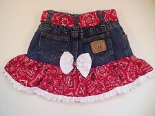 Toddler Girl's Denim Skirt KIDDIE KORRAL Authentic Western Wear Jean Skirt