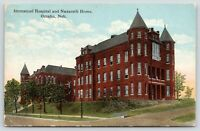 Omaha Nebraska~Immanuel Hospital & Nazareth Home~c1910 Postcard