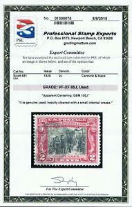GENUINE SCOTT #651 USED PSE CERT GRADED VF-VF 85J APPARENT GEM 100J JUMBO