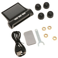 Solar Car Wireless LCD TPMS Tyre Pressure Monitor System+4 External Sensors