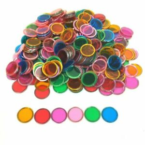 360 multi-coloured Magnetic discs counters for Math Games Home schooling