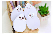 4 Pcs Cute Face Water-drop Memo Post It Pad To Do List Sticky Notes stationery