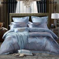 4Pcs Luxury Satin Jacquard Cotton Bedding Set  Bed Cover Duvet Cover Bed Set