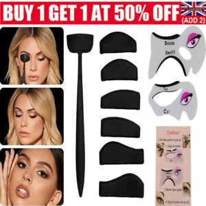 Crease Line Kit Eyeshadow Stamp Applicator Shadow Stamper +Eyeliner Make Up Tool