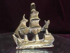 Rare Victorian Door Knocker Brass Bronze Ship Restoration Hardware