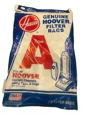 Genuine Hoover Vacuum Cleaner Bags Type A Filter 3 Count New
