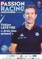 Programme Heft book program RC Strasbourg AS Monaco ASM Henry rare 20.10.18 noWC