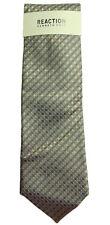 New Kenneth Cole Reaction Beige Blue Modern Natte 100% Silk Neck Tie Necktie