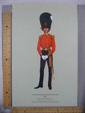 Rare Orig VTG Officer Scots Fusiliers Dress in 1831 Color Illustration Art Print