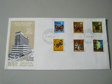 NEW ZEALAND FDC 1970-71 DEFINITIVE STAMP ISSUE 1/2c to 4c dated 2nd SEPT 1970