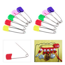 100pcs Mixed Color Baby Diaper Nappy Locking Hold Clip Pin Needle Craft Sewing
