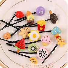 10PC Fruit BB Hairpins Hair Clip Baby Kids Girl Snap Band Hair Accessories Mixed