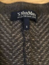 'S MaxMara ( Virgin Wool/ Cashmere Mix ) Knitted Cardigan / Coat/ Jacket Size S