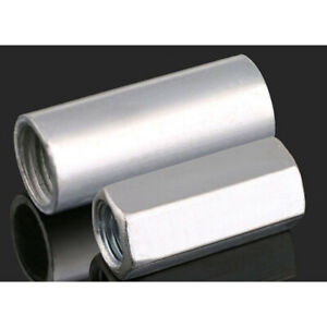 M6 M8 M10 M12 Galvanized Long Hexagon/Round Connector Nuts Metric Connecting Nut