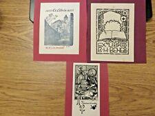 More details for    1910/1911/1912  three vintage ex libris