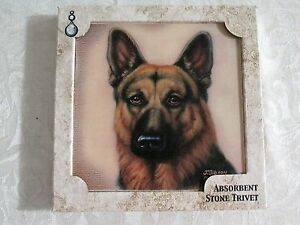 GERMAN SHEPHERD DOG AbsorbaStone Trivet - NEW