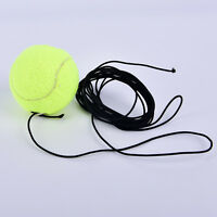 Drill Exercise Resiliency Tennis Balls Trainer With String Replacement Rubber uW