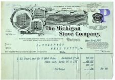 Graphic 1892 Billhead Detroit Michigan, The Michigan Stove Works Company