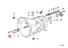 Genuine BMW 5 Pcs Fillister Head Screws Torx 6X16mm 07129905536