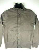 BANANA REPUBLIC Mens Cardigan Sweater Full Zip Button Front Size L Gray