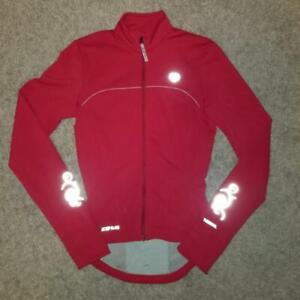 Womens PEARL iZUMi ELITE Thermal Cycling Jersey Top Shirt Jacket - XS - Red