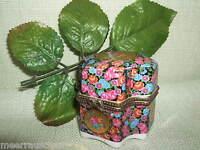 Pillendose Porzellandose Süßstoffdose Metallmontierung Blau rosa Gold Gemarkt