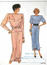 Vtg 80s VOGUE dress pattern womens sz 12 14 16 low armholes great classic style