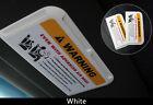Car Sun Visor Card Pocket White For PEUGEOT 206 207 208 308 RCT 3008 407 508 807