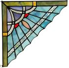8  x 8  Blue Mission Tiffany Style Stained Glass Corner Window Decor