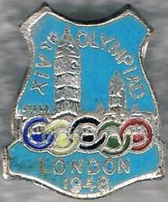 Rare 1948 London Small Blue XIV Olympiad Olympic Games Mark Pin