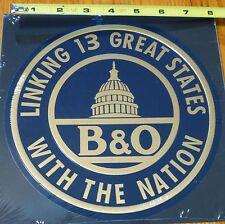Microscale Metal Sign #10020 B&O Baltimore & Ohio (Die Cut, Embossed Metal Sign)