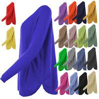 Womens Italian Angora Wool Curve Rib Button Hem Long Sleeved Ladies Jumper Top
