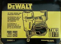 DEWALT DW66C-1 15 Degree Coil Siding And Fencing Nailer - *NEW*