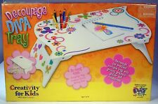 Creativity for Kids Decoupage Diva craft Tray kit Wooden tray include cup holder