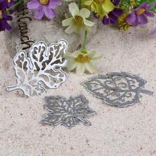 3Pcs Pretty Leaves Design Metal Cutting Dies Stencil DIY Scrapbooking Paper Card