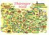 AK*  Thür.Wald zwischen Ilmenau u.Rudolstadt  - Plankarte (AB)20843