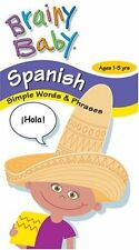 Brainy Baby Spanish Simple Words Phrases VHS 2003 Ages 1 5 Year Brand New Sealed