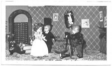 1920s Lot of 6 Antique Photos DOLLS TOYS WEDDING SCENE, Dollhouse RARE!
