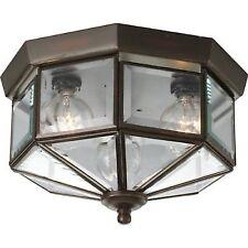 Progress Lighting P5788-20 Beveled Glass Flush Mount Antique Bronze