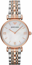 NEW EMPORIO ARMANI AR1683 LADIES TWO TONE WATCH - 2 YEARS WARRANTY - CERTIFICATE
