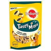 Pedigree Tasty Minis Dog Treats Cheesy Nibbles with Cheese & Beef 140g