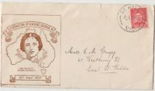 Stamp 1937 Coronation 2d red KGV1 on John Gower queen mother framed brown FDC