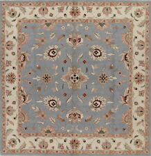 Traditional Floral LIGHT BLUE Oushak Oriental Hand-Tufted Rug Wool 10x10 Square