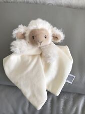 M & S Cream Sheep Lamb Baby Comforter/Blanket Soother 04082705