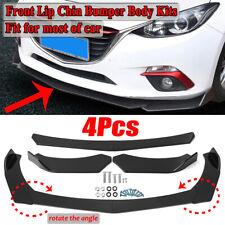 4PCS Gloss Black Front Bumper Lip Spoiler For Toyota Highlander Corolla Camry