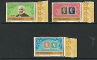 St VINCENT 1979 ROWLAND HILL CENTENARY SET OF ALL 3 STAMPS MNH / UNMOUNTED MINT