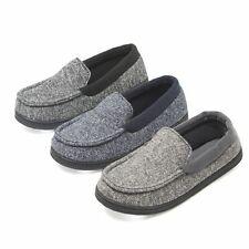 Hanes Boy's Slipper Moccasin House Shoe With  Indoor Outdoor Memory Foam Sole