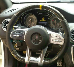 AMG Carbon Fiber Steering Wheel For Mercedes-benz A C E G S R Class To New AMG